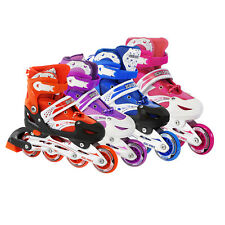 Kids Adjustable Inline Skates Roller Blades Light Up Scale Sports 12J-2 4-6 7-9