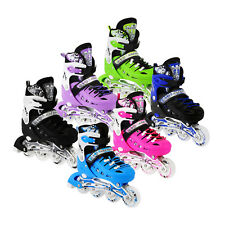 Adjustable Kids Roller Blades Inline Skates Light Up Size 13J-3 4-6 7-9