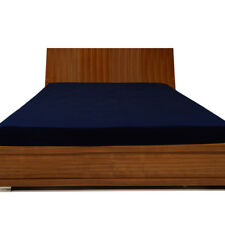 Extra Deep Pocket Fitted Sheet 1000TC Egyptian Cotton All Size Navy Blue Solid