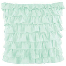 2 Piece Multi Ruffle Pillow Sham 1000 TC Egyptian Cotton Solid All Size & Color
