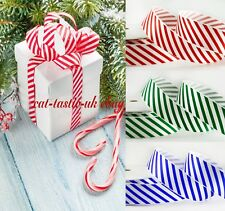 1m Red & White Candy Stripe Ribbon Christmas Crafts Wrapping,bow bows making