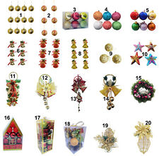 Christmas Decoration Baubles Stars Cones Hearts Tree Topper Drums Bells Xmas