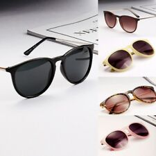 Sun Glasses for Women Men Retro Round Eyeglasses Metal Frame Leg Spectacles