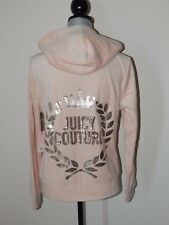 NWT JUICY COUTURE VELOUR EMBELLISHED HOODIE & BOOTCUT PANTS LIGHT PINK LARGE