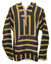 X-LARGE Mexican BAJA HOODIE - BROWN/BLACK - Mexican PONCHO Sweater Surfer