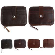 Fashion NEW Brown Credit Bank ID Card Holder Money Clip Small Zipper Wallet