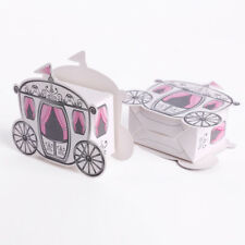 50/100pcs  Wedding Party Favor Princess Carriage Design Candy Wrap Gift Boxes