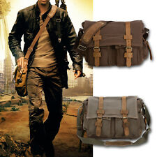 Mens Vintage Canvas Cross Body Shoulder Messenger Bag Satchel School Bag