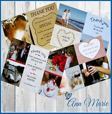 PERSONALISED WEDDING DAY GIFT THANK YOU THANKS FOR MY GIFTS CARDS WITH ENVELOPES