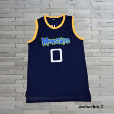 Monstars Alien 0 Jersey Men Stitched Sewn Dark Blue Basketball Jersey