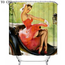 71x71in Marilyn Monroe 3D Shower Curtain Fabric Polyester Anti-bacterial 12 Hook