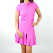 386 NWT Polo Ralph Lauren Girls Jody Pleated Polo Dress Pink XL
