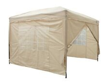 3m x 3m Instant Pop Up gazebo With 4 Sides + 4 leg weight bags + 2 windbars