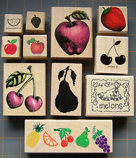 """""""FRUIT"""" RUBBER STAMPS ~ FUN FRUIT HARVEST THEME STAMPIN UP & MORE ~ YOU PICK"""
