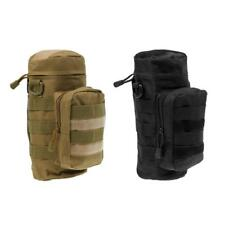 Outdoor Military Tactical Molle Water Bottle Bag Kettle Pouch Holder 2 Pack