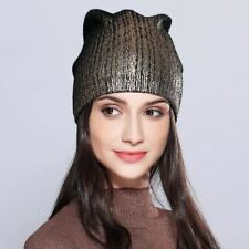 Women's Hats Shining Hot Sale Wool Knitted 2017 Autumn Winter Fashion Brand New