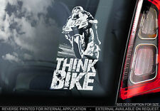 THINK BIKE! - Valentino Rossi Car Sticker -Doctor #46- PROCEEDS TO CHARITY - V01
