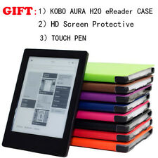 For KOBO AURA H2O eReader+Touch Pen Magnetic Auto Sleep Leather smart Cover Case