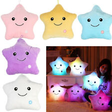 Romantic Glowing Soft Pillow Sofa Cushion 7 Color Changing LED Light Cute Star