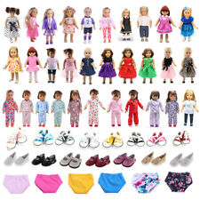 Lovely Party Dress Casual Clothes Set Sneakers Shoes for 18'' American Girl Doll