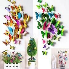 DIY 3D Butterfly Wall Stickers Art Design Decals Room Decor Home Decor One Set