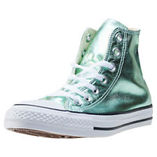 Converse Ct All Star Metallics Hi Womens Green Canvas Casual Trainers Lace-up