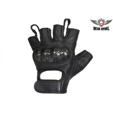 FINGERLESS AUTHENTIC LEATHER GLOVES MOTORCYCLE BIKER GLOVES NEW ALL SIZES