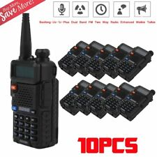 10 New Baofeng UV-5R+ VHF/UHF 136-174/400-520MHz Ham Two-way Radio Walkie Talkie