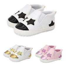 Baby Infant Baby Cute Stars Shoes Girls Soft Sole Sneaker Crib Shoes 0-18months