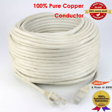 100FT LONG Fast 10Gbps Cat5e LAN PATCH Network Cable Cat 5 e Ethernet Lead Lot