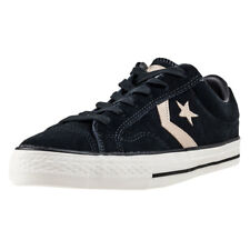 Converse Star Player Ox Mens Black Suede Casual Trainers Lace-up New Style