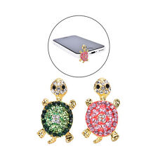 Crystal Turtle Earphone Jack Anti Dust Plug Cap Stopper for CellPhone 3.5mm AB