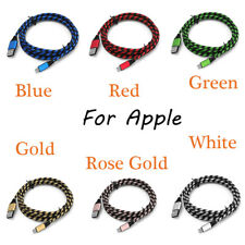 2Pcs 2m Strong Braided USB Sync Fast Charging Cable Data Muticolor For Apple