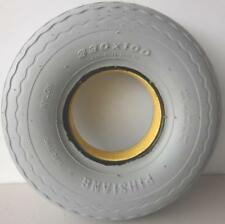 """1 Front Mobility Scooter Solid Puncture Proof Tyre 4.00 x 5"""" (330 x 100) Grey"""