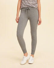 Abercrombie & Fitch - Hollister Track Pants Moto Fleece Leggings XS Grey NWT