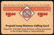 $5. 'Coinless Calling' (Century Telecommunications) SPECIMEN Phone Card
