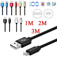 1/ 2/ 3M Fast Charger Strong USB Data Cable For IOS iPhone 5 6 6S 7 8 Plus iPad
