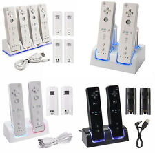 Charger Dock Cradle Station&Rechargeable Battery For wii Remote Controller Game