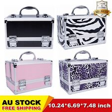 Professional Portable Cosmetic Beauty Case Makeup Box Organiser Travel Vanity AU
