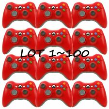 LOT100 Microsoft Xbox 360 Wireless Controller Video Gamepad Red official USA FH