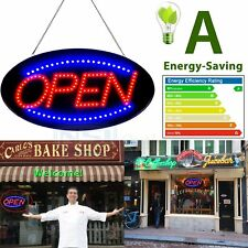 """Bright Animated LED Open Store Shop Business Sign 19x10"""" neon Display Lights LK"""