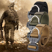 Tactical Heavy Duty US Soldier Mens Military Belt Web Combat Army Exercise Belts