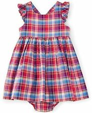 Ralph Lauren Baby Girls' Madras Pattern Cotton Dress and Bloomer Set