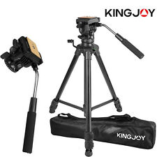 Professional Heavy Duty Video Camera Tripod with Fluid Pan Head Kit 65' Inch MU