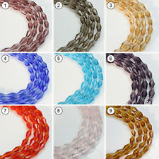 72pcs Various Color Synthetic Crystal Gemstone Diamond Shape Loose Bead 4x8mm