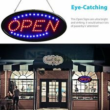 """Ultra Bright LED Neon Light 19x10""""Animated Motion OPEN Business Sign FreeShip LS"""