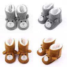 Toddler Baby Girls Fleece Shoes Snow Boots Winter Warm Soft Sole Knit Booties