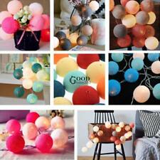 New 20LED Cotton Ball String Light Holiday Wedding Party Christmas TXGT