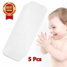 NEW 5PCS Cotton Baby Cloth Diaper Nappy Liners insert 6 Layers Reusable Washab L