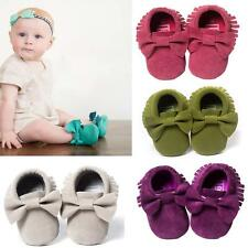 Baby Soft Sole suede/Leather Shoes Infant Boy Girl Toddler Moccasin 0-18mHot